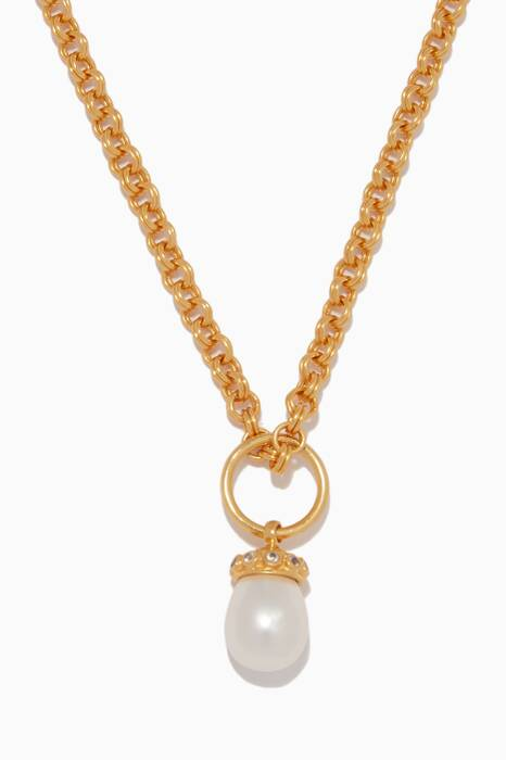 Gold & Faux-Pearl Lois Necklace