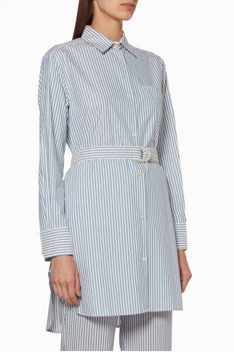 Light-Blue Striped Gioiosa Long Shirt