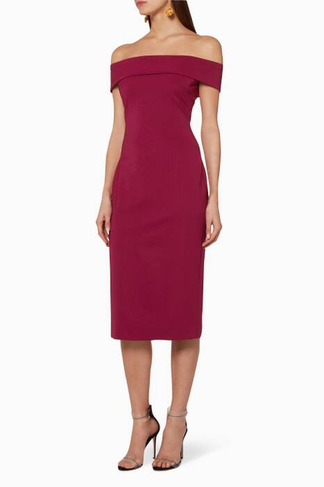 Dahlia-Purple Layla Pencil Dress
