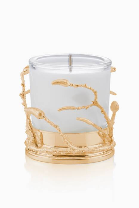 White & Gold Plated Branch Candle Holder