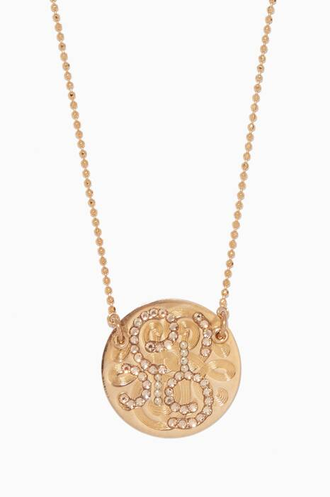 Gold Diva Strass Crystal Necklace