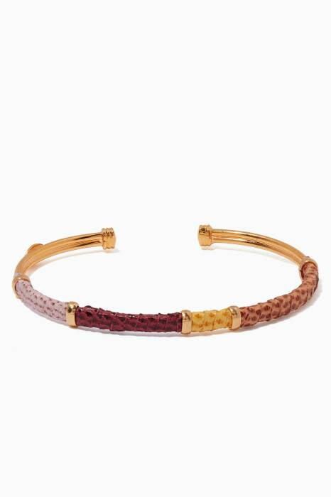 Gold Portorico Chain Bangle