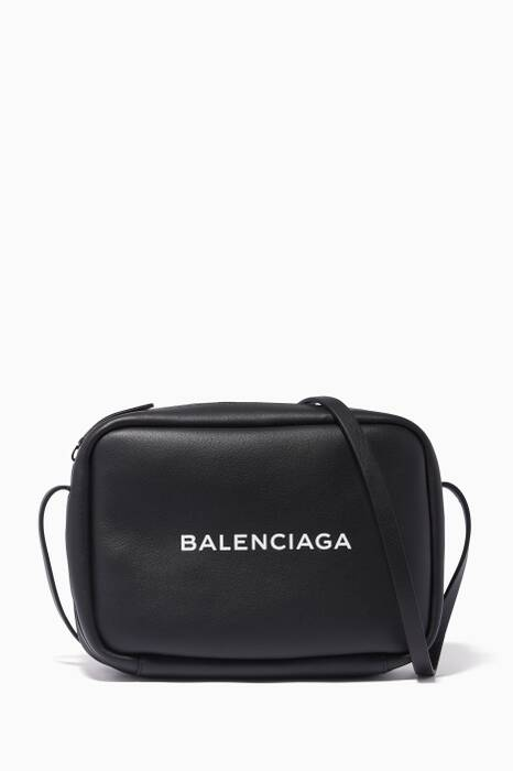 Black Everyday Camera Logo Cross-Body Bag