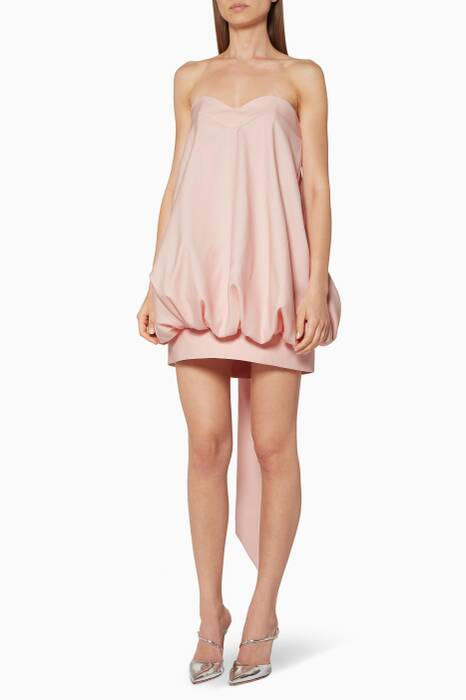 Light-Pink Strapless Mini Dress