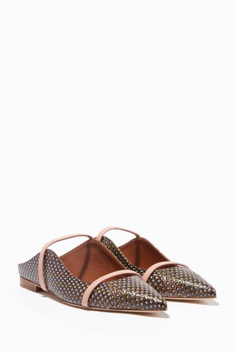 Multi-Coloured Maureen Elaphe Flat Mules