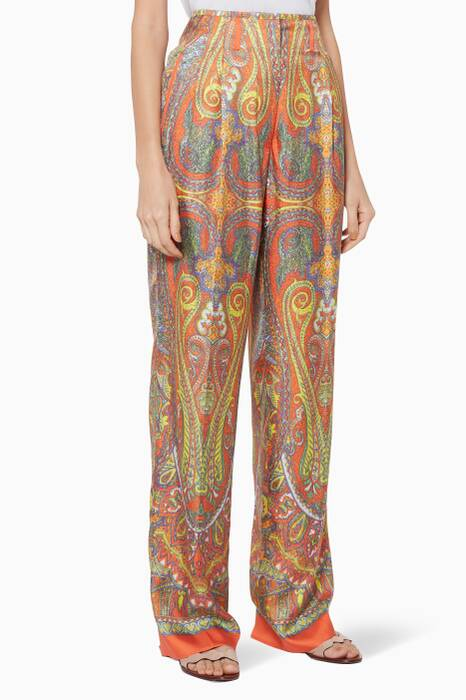 Multi-Coloured Printed Pants