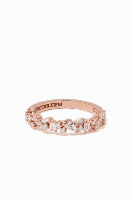 Rose-Gold & White Diamond Baguette Ring