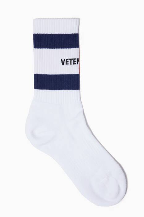 White Vetements X Tommy Hilfiger Socks