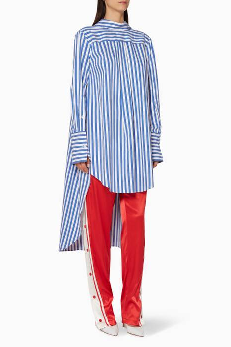 Blue & White Striped Head Turning Shirt