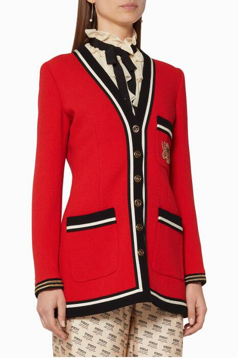 Red Wool Sablé Jacket