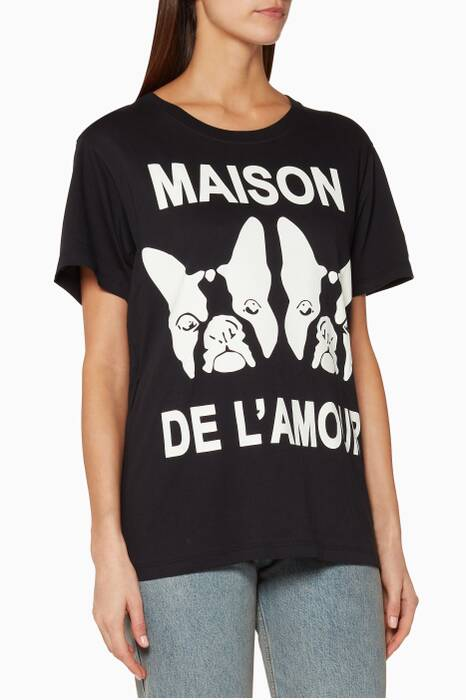 Black Maison de l'Amour T-Shirt