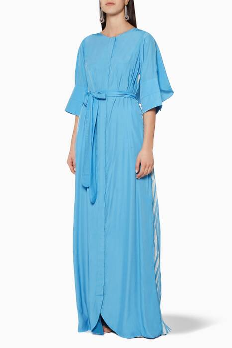 Blue Pleated Kaftan