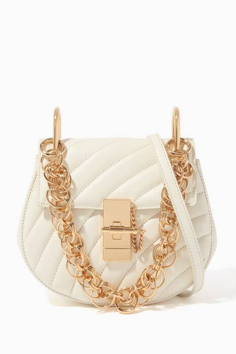 Natural-White Mini Drew Bijou Shoulder Bag