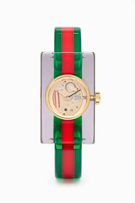 Red & Green Vintage Web Plexiglas Watch