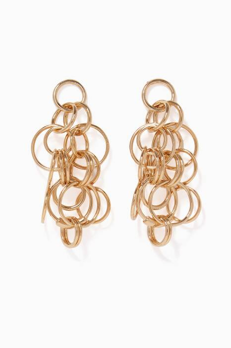 Gold Large Multi-Hoop Earrings