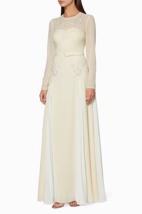 Ivory Embroidered Maxi Dress