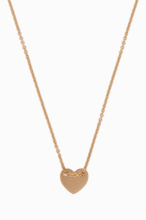 Yellow-Gold Girl Code Little-Heart Necklace