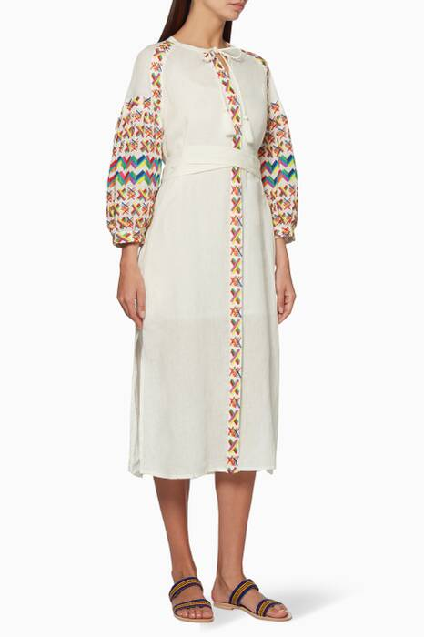 White Embroidered Gabriela Dress