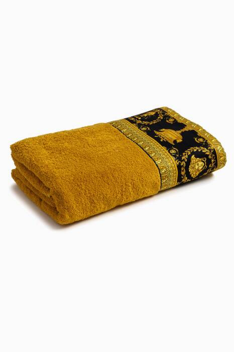 Gold & Black Baroque Bath Towel