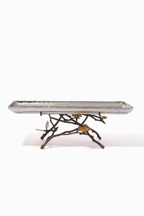 Butterfly Ginkgo Footed Tray