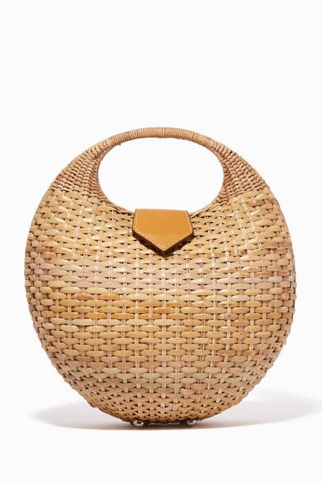 Beige Elina Wicker Bag