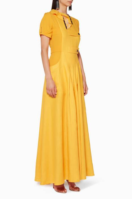 Yellow Ruffled Dress
