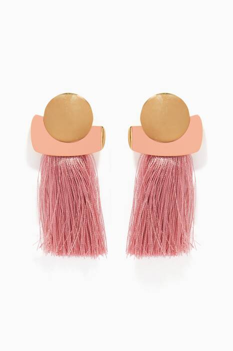 Light-Pink Mulberry Fringe Earrings