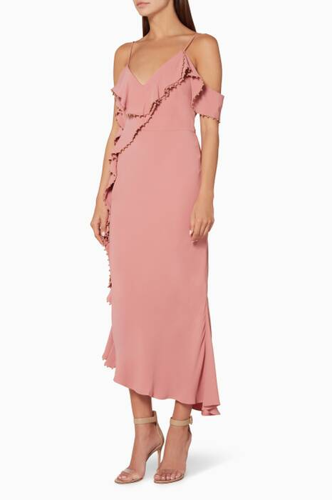 Pink Rare Beauty Midi Dress