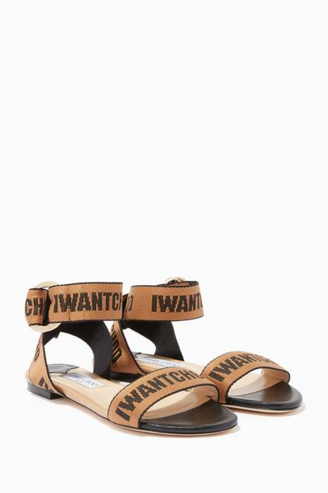 Black & Nappa Breanne Tape Leather Flats