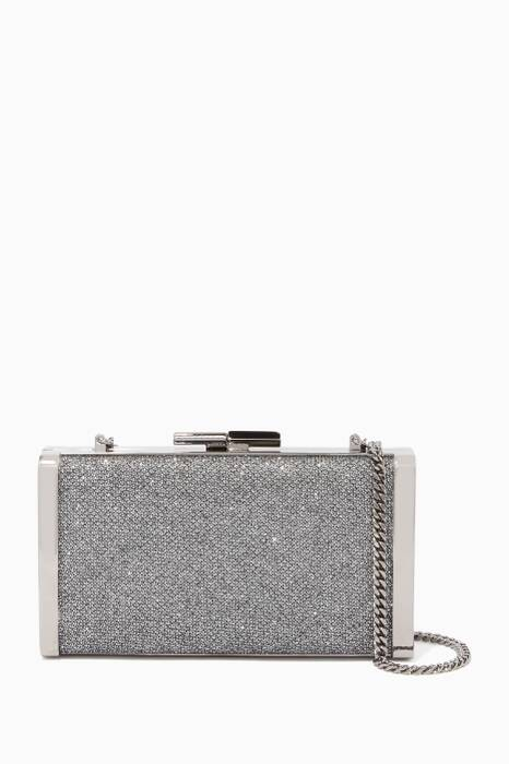 Anthracite J Box Dusty Glitter Clutch