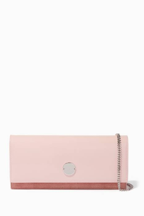 Rosewater-Pink Medium Fie Clutch Bag