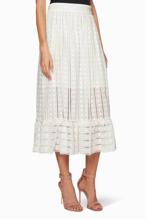 Ivory Melody Ladder Skirt