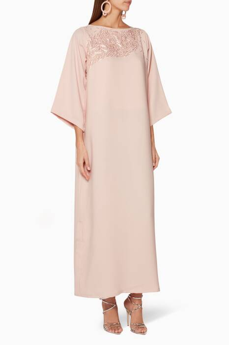 Light-Pink Embellished Kaftan