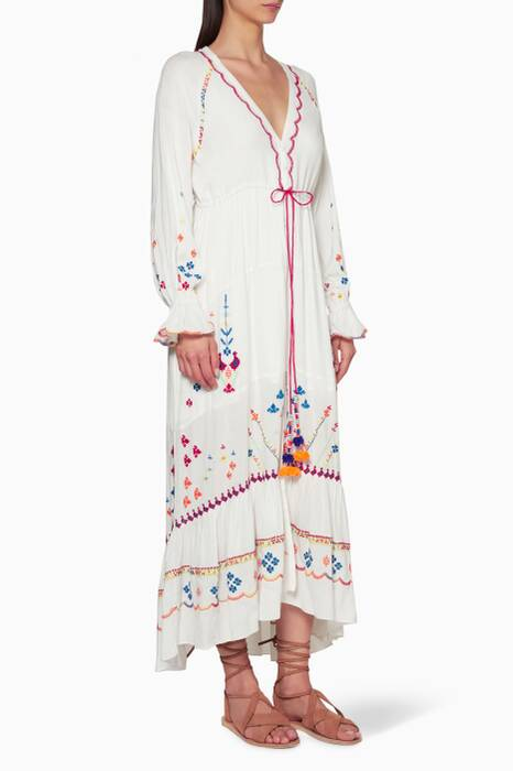White Terrain Embroidered Dress
