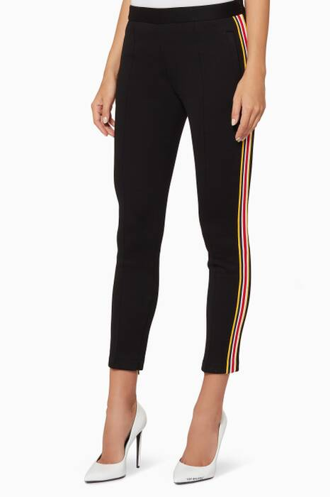 Black Side-Stripe Pants