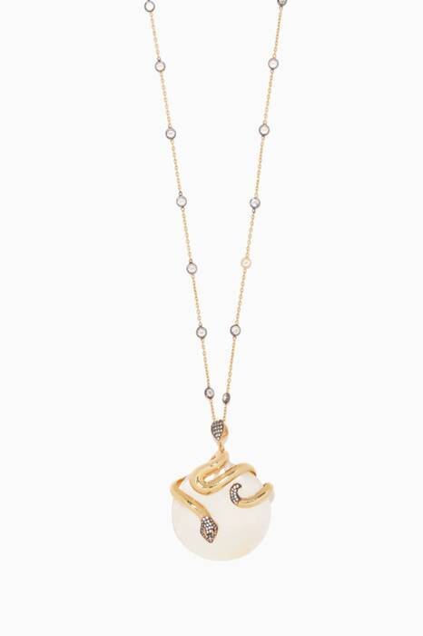 Gold & Mother Of Pearl Necklace