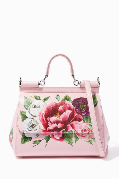 Light-Pink Medium Peony Miss Sicily Bag