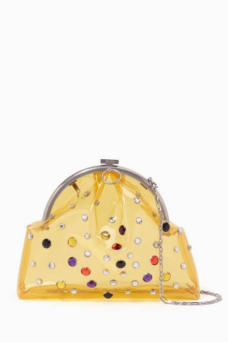 Yellow Cloud Embellished Cross-Body Bag
