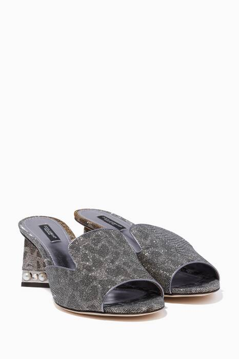 Silver Lurex Bianca 60 Sandals