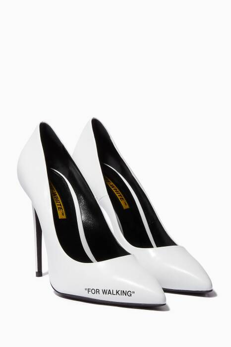 White For Walking Point-Toe Pumps