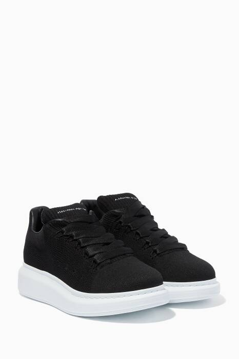 Black Knitted Oversized Sneakers