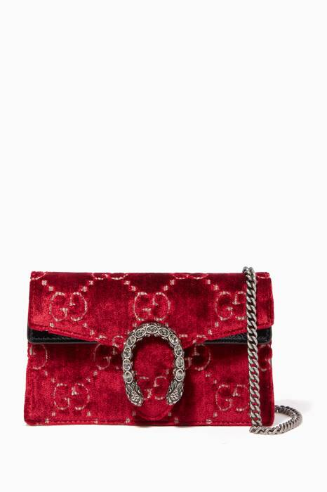 Red Velvet Super Mini Dionysus GG Bag