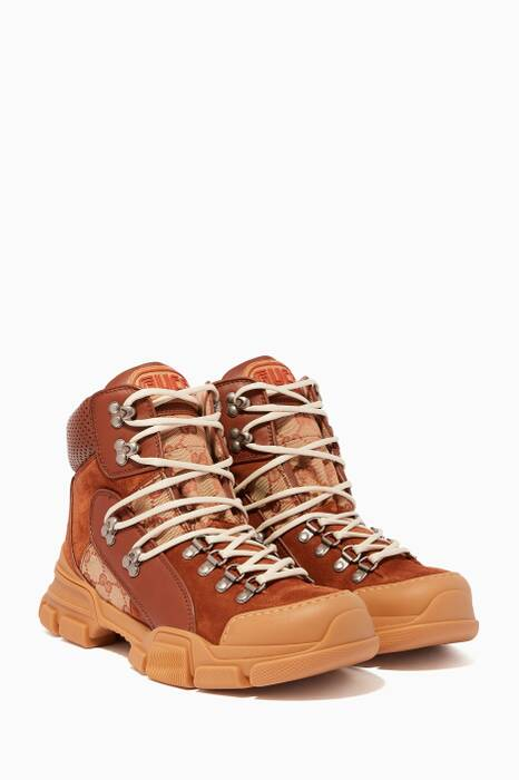 Brown Flashtrek GG High-Top Sneakers
