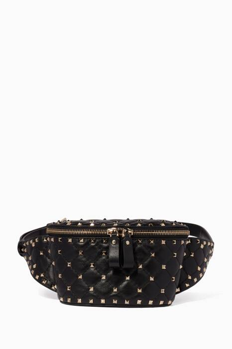 Black Small Nappa Belt Bag