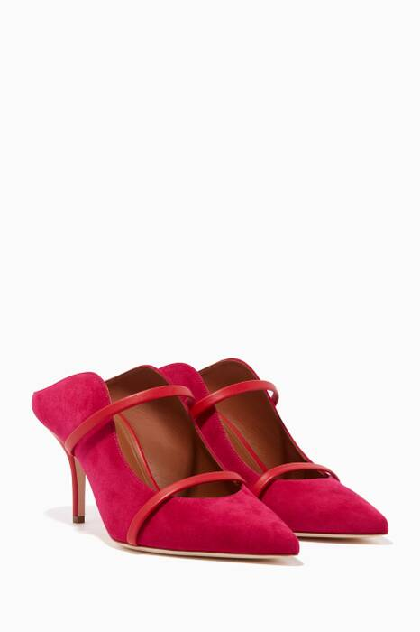 Red & Cherry Maureen Suede Mules