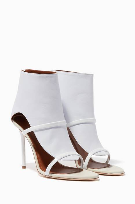 Ivory Leather Miley Sandals
