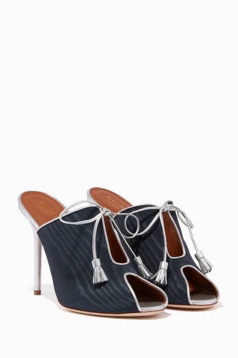 Navy Dawn Tassel Mules