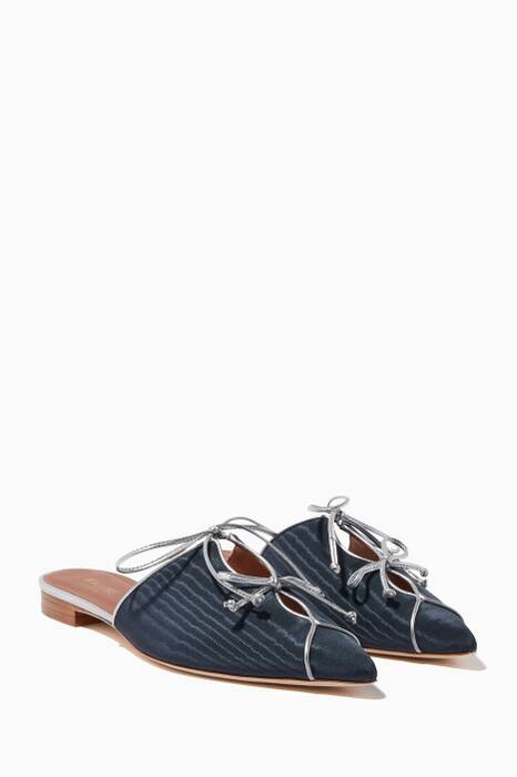 Navy Vilvin Point-Toe Slippers