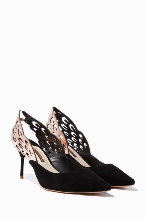 Black Angelo Slingback Pumps