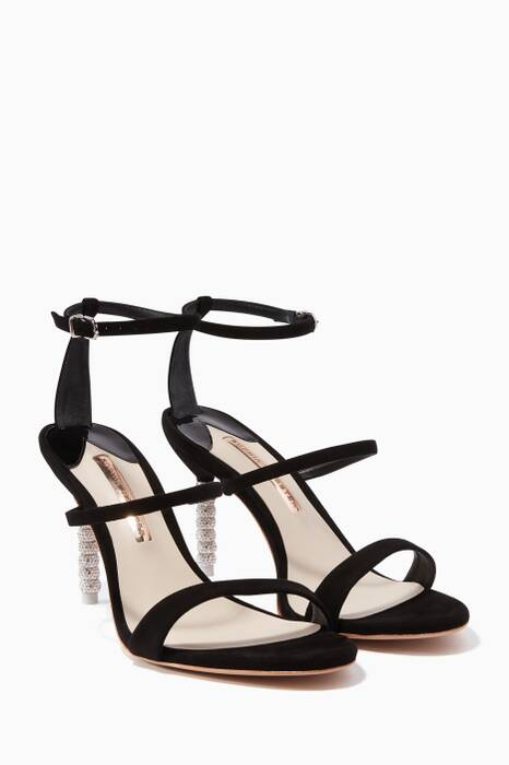 Black Rosalind Crystal Sandals